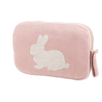 Bunny Blanket Set - Pink -  100% Combed Cotton baby/toddler blanket Set -  Crib blanket/Stroller blanket/Car blanket/Travel blanket/Park blanket