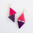 Tagua 2-Triangle Arco Earrings