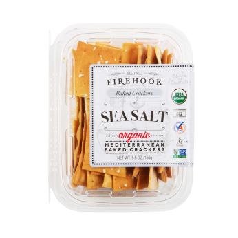 Firehook Organic Baked Crackers -  Sea Salt