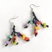 Tagua 3-Strand Bits Anna Earrings