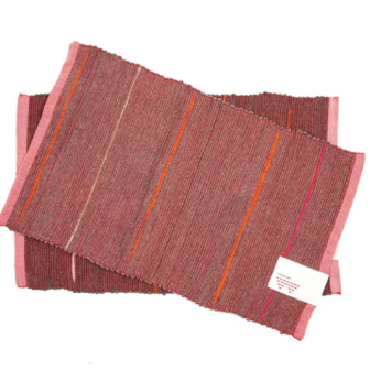 Handwoven Welcome Mat - Ruby