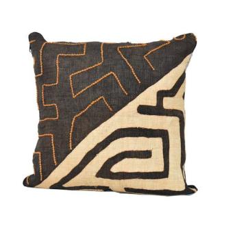 "Kuba Cloth Pillow Covers 22"""