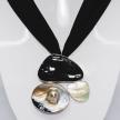 Mixed Shells Brooch Pendant
