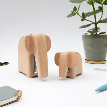 Wooden Elephant Stapler