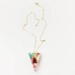 Sari Resin Triangle Pendant Necklace - Medium