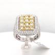 Rectangular Yellow and White Diamond Ring