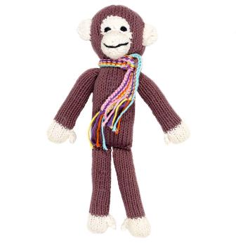 Kenana Knitters Brown Cotton Monkey Stuffed Animal