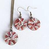 necklace set + earrings Copper - whiteroldrose