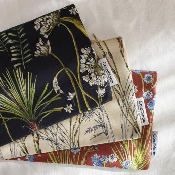 Botanical Greenery Cotton Clutch Bags
