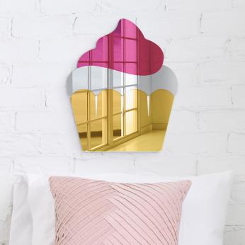 Cupcake Wall Decor | Mirror Acrylic Finish | Ready to Hang