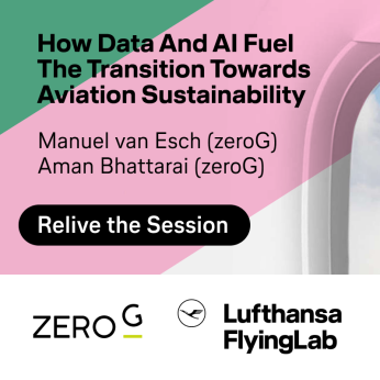 EVENT | March 18 | zeroG: How Data and AI Fuel the Transition towards Aviation Sustainability presented by zeroG