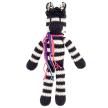 Kenana Knitters Cotton Lanky Zebra Stuffed Toy
