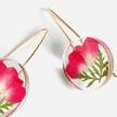 Botanical SML June Rose Full Moon Earrings