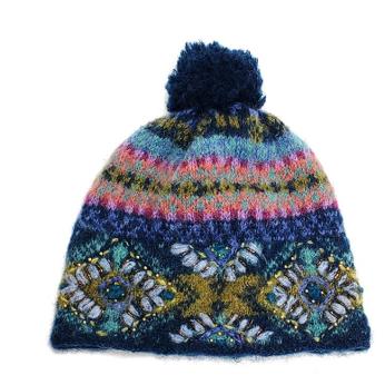Cozy Ethnic Hat - Teal