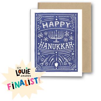 Happy Hanukkah Folk CARD