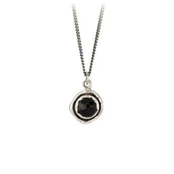 Black Onyx Faceted Stone Talisman