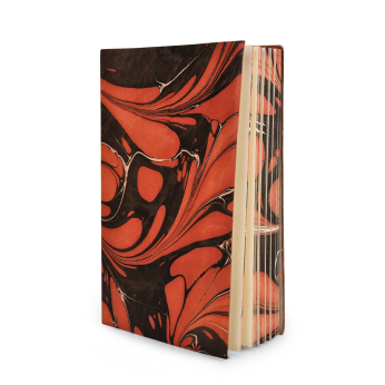 Marbled Leather Journal