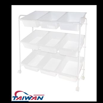 9 drawers trolley