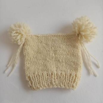 Knitted merino wool baby hat