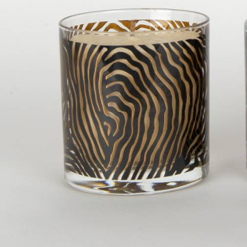 Hand screen printed scented candles