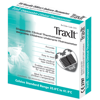 TraxIt Wearable Axillary Thermometer