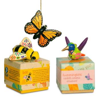 Pollinator Confetti Ceramic Ornament Mix