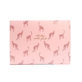 Pink Leopard Sticky Note Set