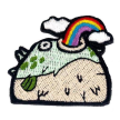 POCKET EMBROIDERED STICKERS – RAINBOW PUFFER FISH