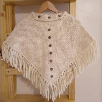 Merino wool knit poncho