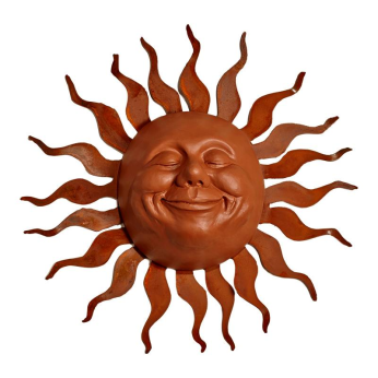 Large Grin sun face on Wave metal Ray