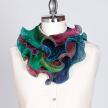 Silk Shibori Dyed Infinity Scarf / Turquoise & Blue