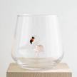 Flamingo Figure Water Drinking Glass