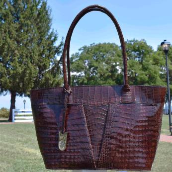 BRIGANTI Crocodile Skin Handbag