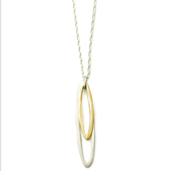 small & med oval necklace
