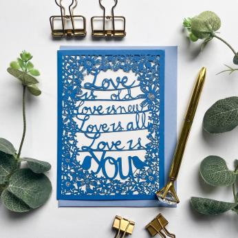 Love is you Beatles lyrics card