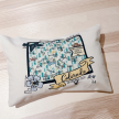 Illustrated Map Design Decorative Pillow - Mountain Zone