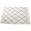 Hand knotted neutral wool rug