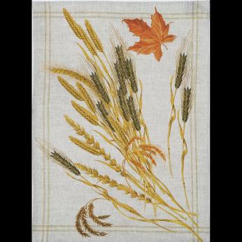 Mierco Italian Autumn Wheat Linen Tea Towel