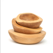 Wooden Bowls (Pack 3 units) - Hualle Handmade