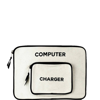 Computer Case with Charger pocket Large