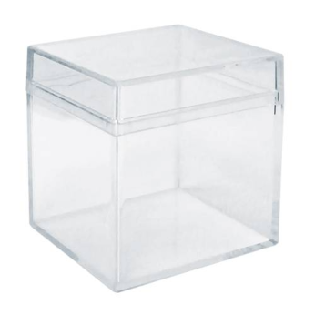 Clear Cube Plastic Box Packing