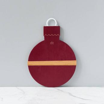 Merlot Mod Ornament Charcuterie Board, Small