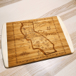 Illustrated Map Design Large Cutting/Cheese Board - West Coast