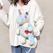 Plushie Heart Unicorn Backpack - Blue