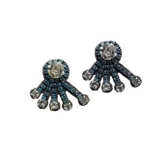 Mini Sky Blue Spray Earrings