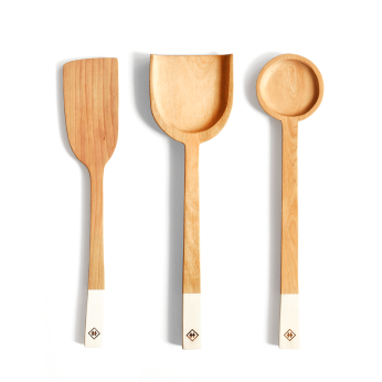 Wooden Spoons (Pack 3 units) - Hualle Handmade