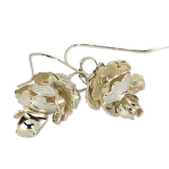 Bipin sterling pine cone earrings