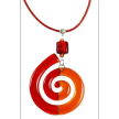 Spiral Glass Necklace