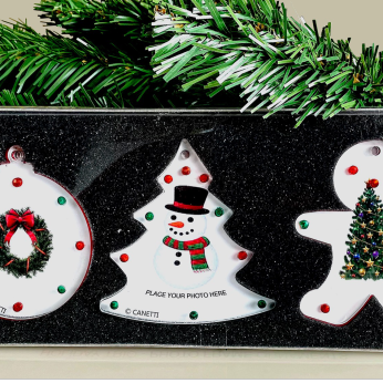 Holiday Trio-3 Magnet Frame Ornaments