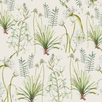 Greenery Botanicals Cotton Tablecloth